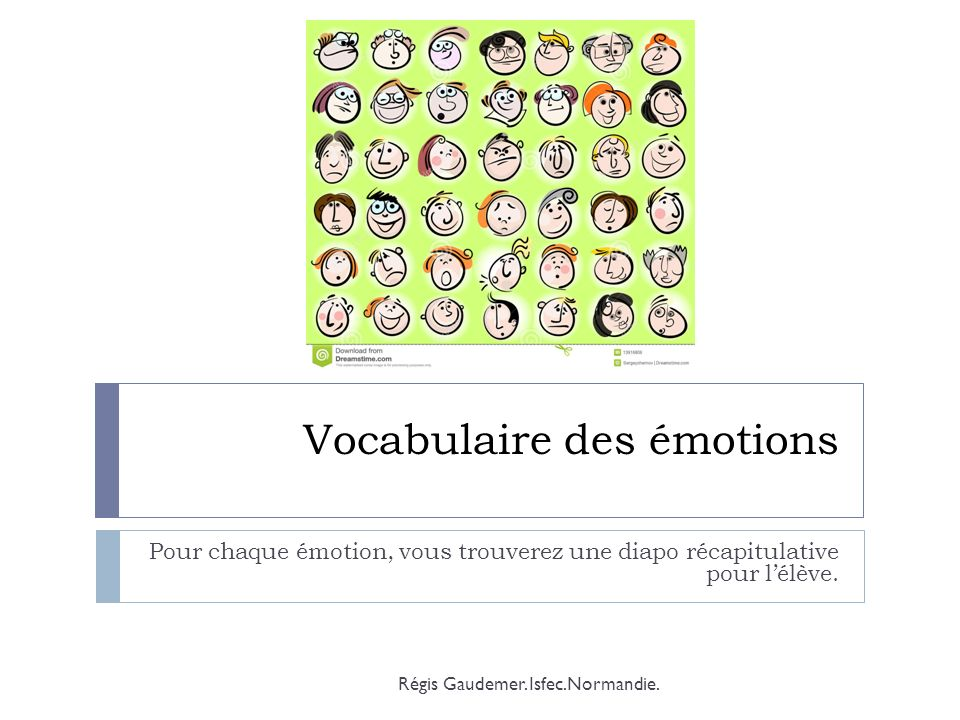 Vocabulaire des émotions