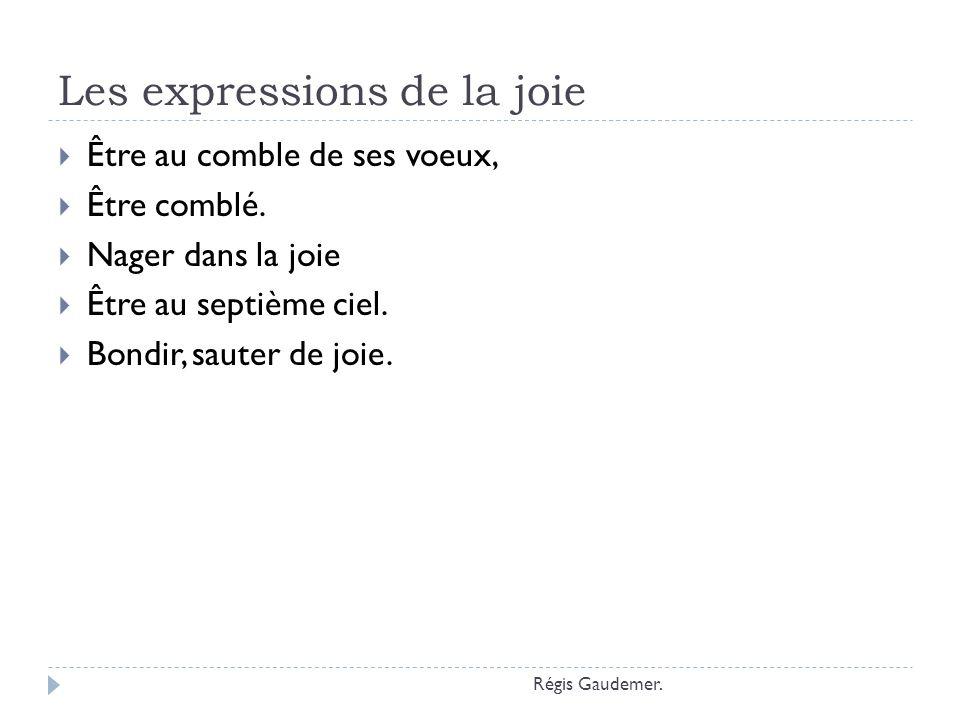 Les expressions de la joie
