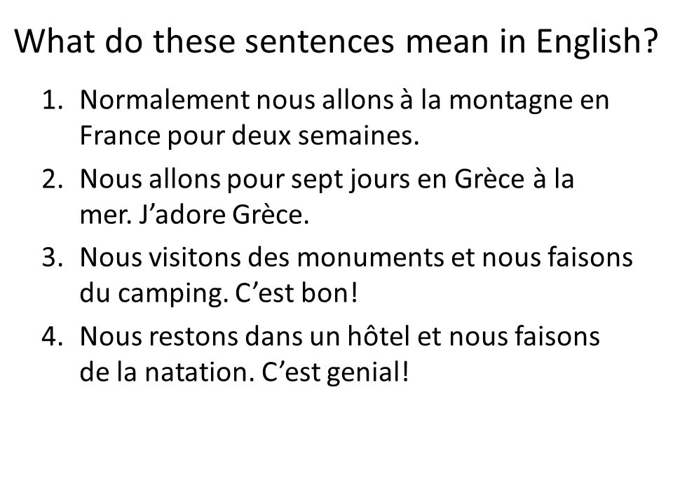 What do these sentences mean in English