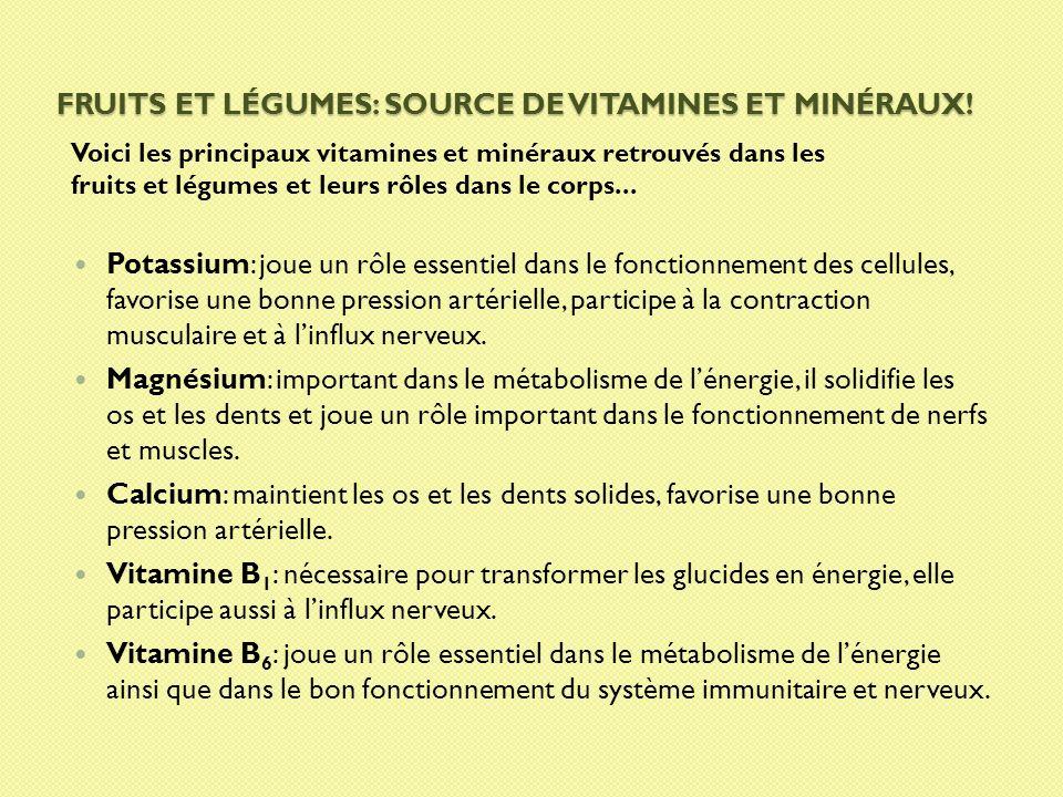 Fruits et légumes: source de Vitamines et minéraux!