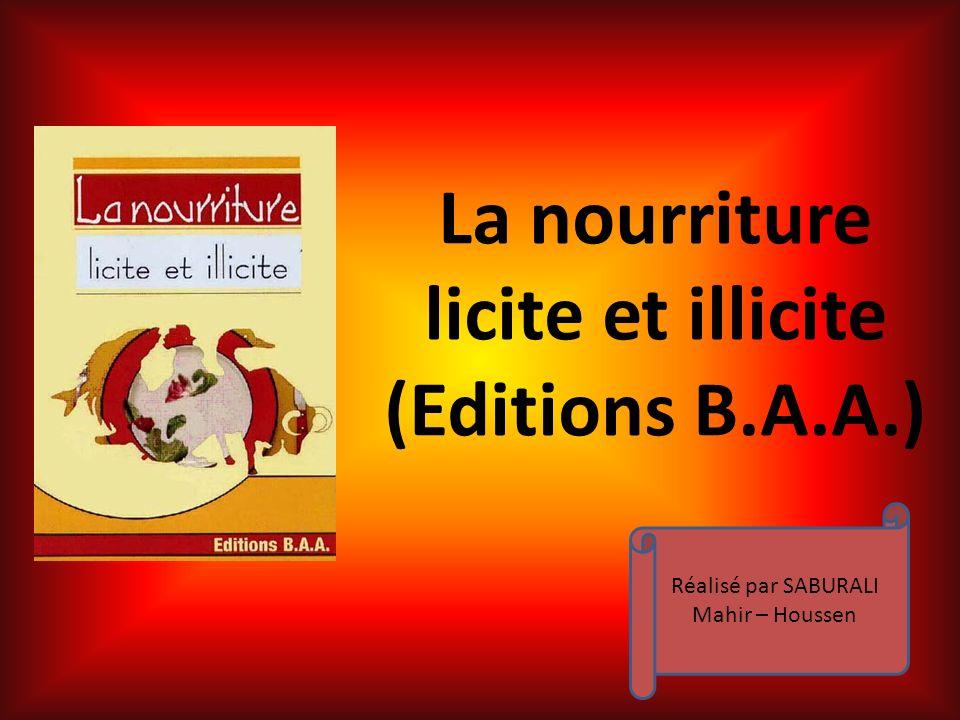 licite et illicite (Editions B.A.A.)