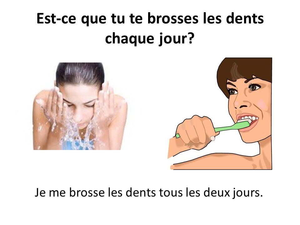 Est-ce que tu te brosses les dents chaque jour