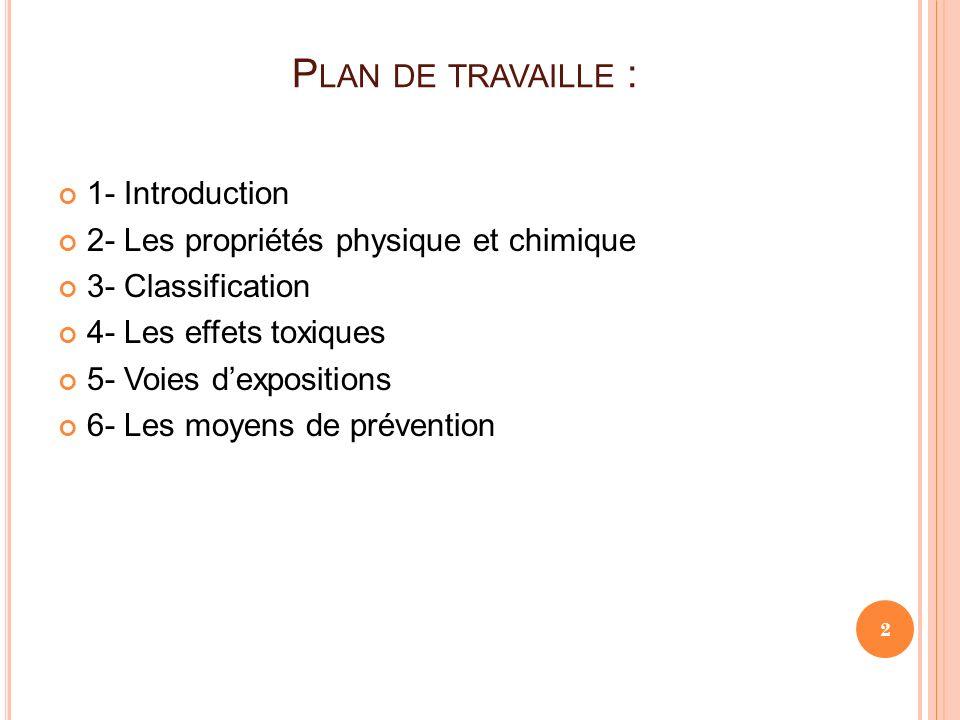 Plan de travaille : 1- Introduction