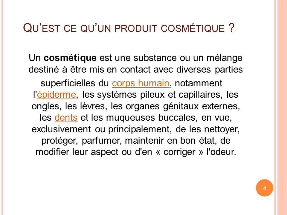 Qu'est ce qu'un produit cosmétique