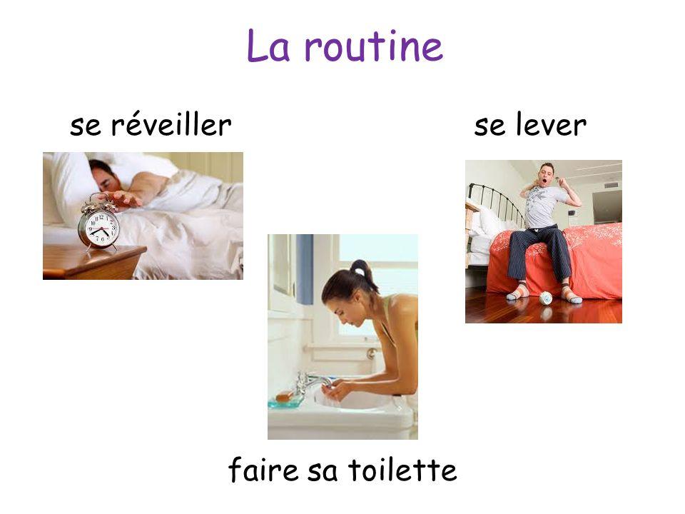La routine se réveiller se lever faire sa toilette