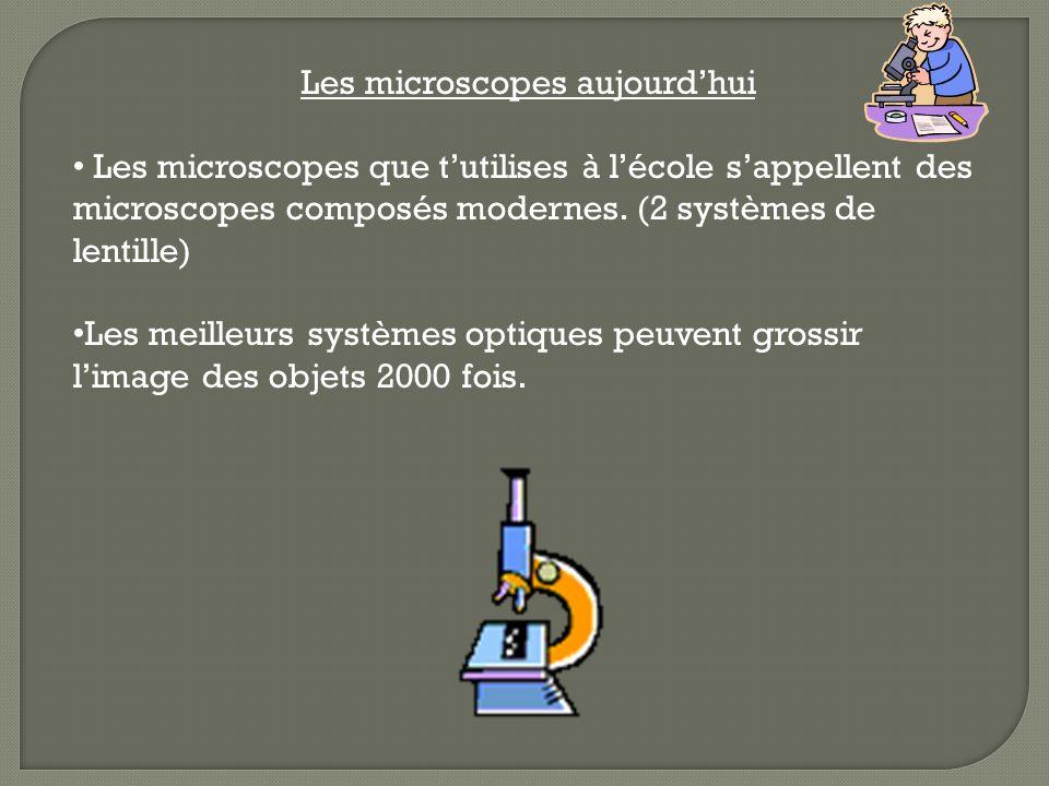 Les microscopes aujourd'hui