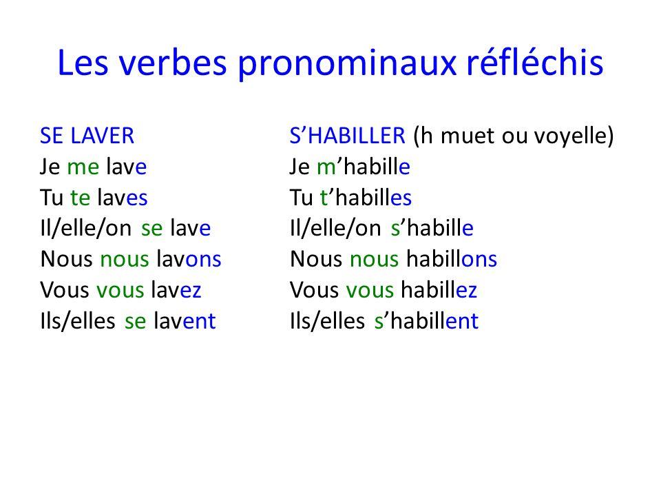 Les verbes pronominaux réfléchis