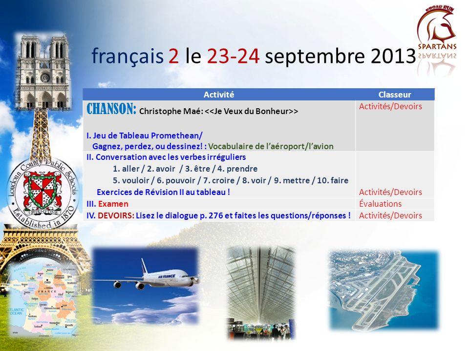 français 2 le 23-24 septembre 2013