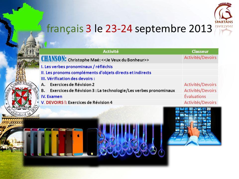 français 3 le 23-24 septembre 2013