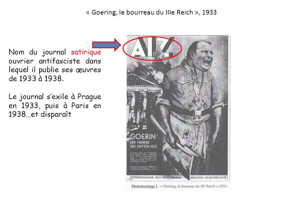 « Goering, le bourreau du IIIe Reich », 1933