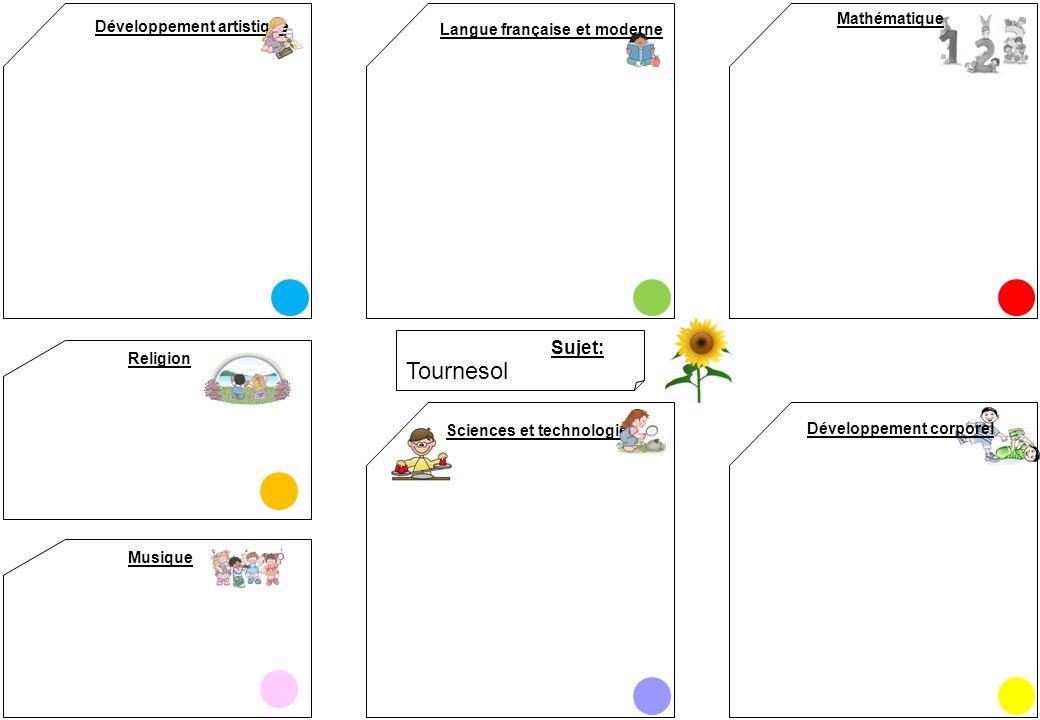 Tournesol Sujet: Mathématique Développement artistique