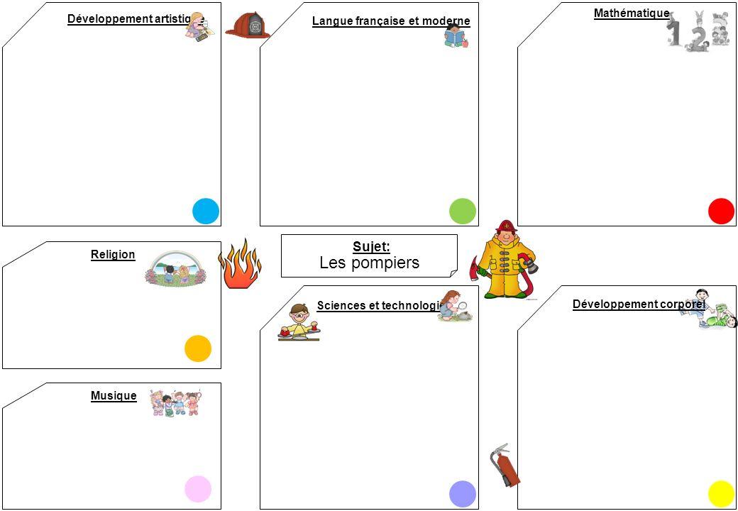 Les pompiers Sujet: Mathématique Développement artistique