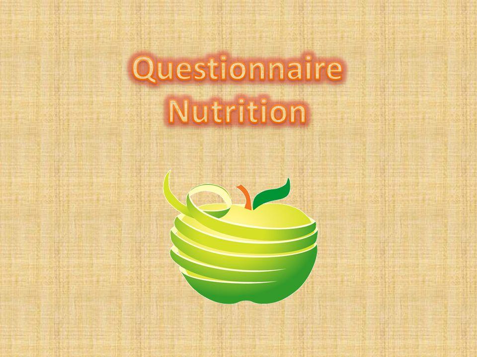 Questionnaire Nutrition