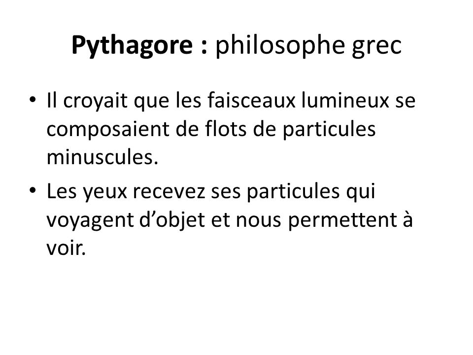 Pythagore : philosophe grec