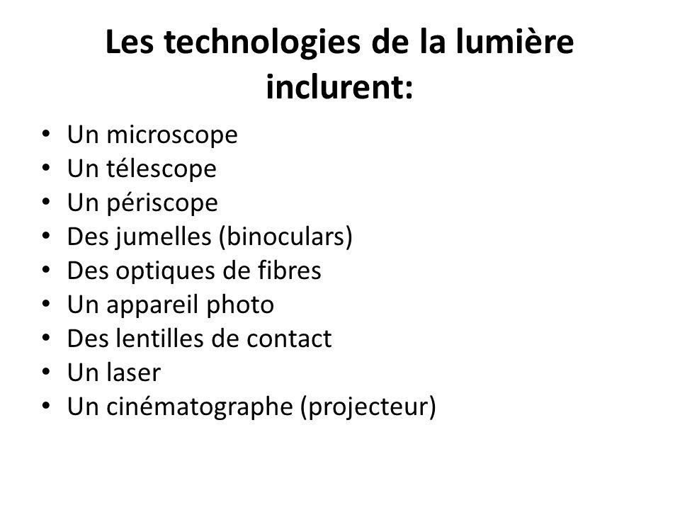 Les technologies de la lumière inclurent: