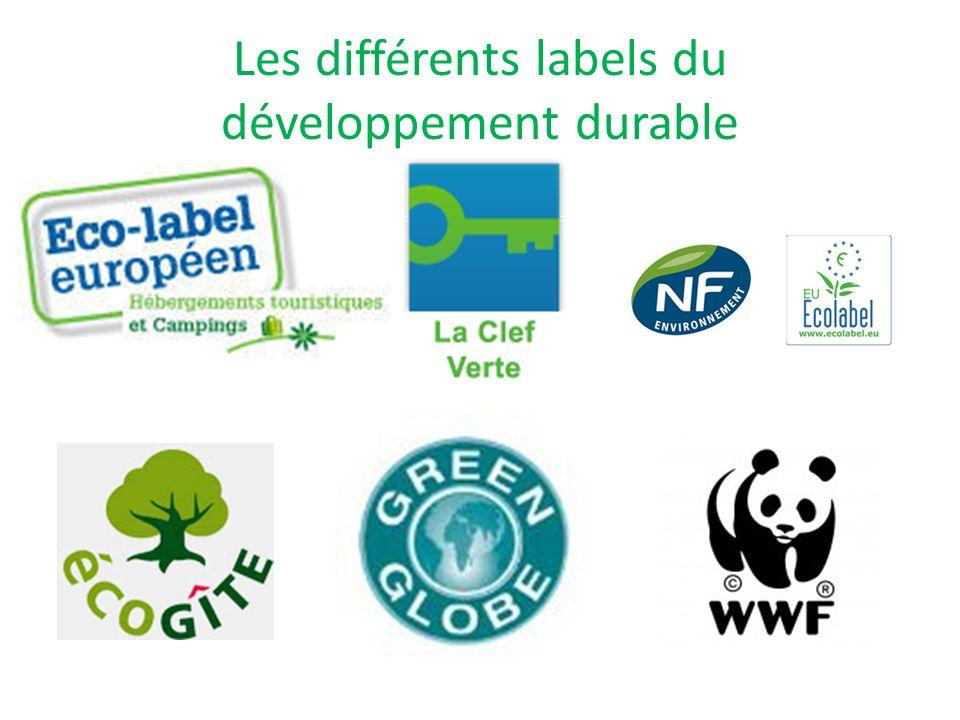 Les différents labels du développement durable