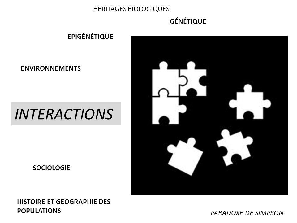 INTERACTIONS HERITAGES BIOLOGIQUES GÉNÉTIQUE EPIGÉNÉTIQUE