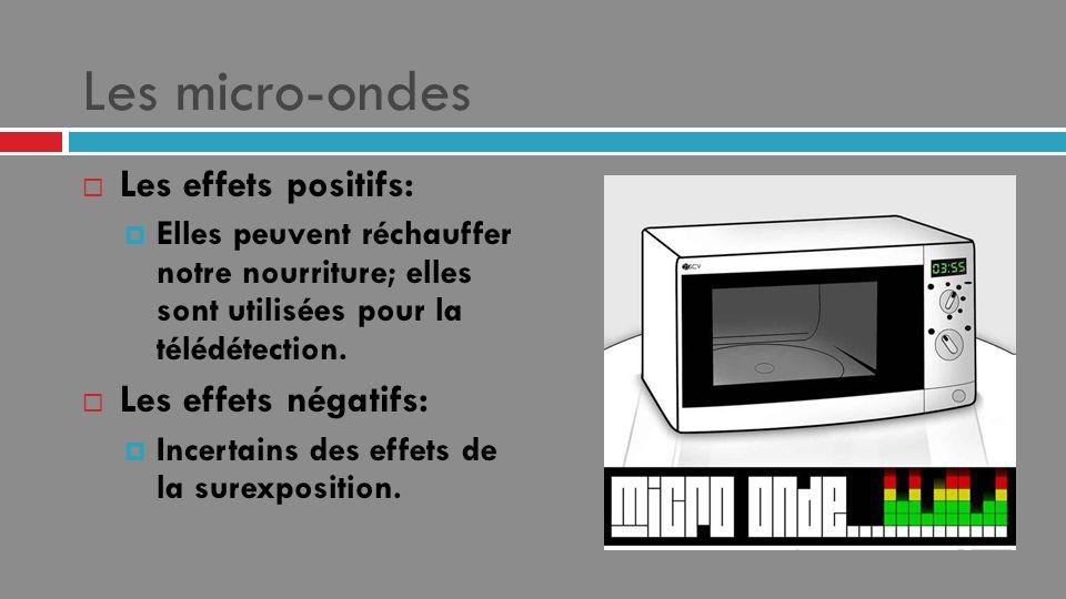 Les micro-ondes Les effets positifs: Les effets négatifs: