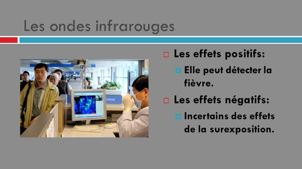 Les ondes infrarouges Les effets positifs: Les effets négatifs:
