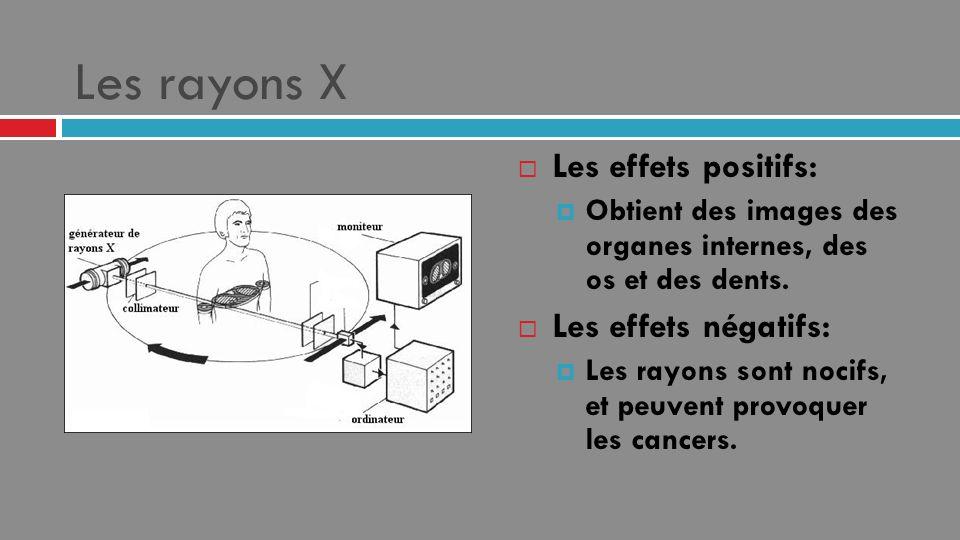 Les rayons X Les effets positifs: Les effets négatifs: