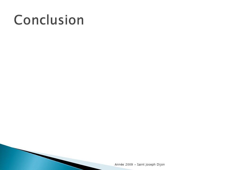 Conclusion Année 2009 - Saint Joseph Dijon