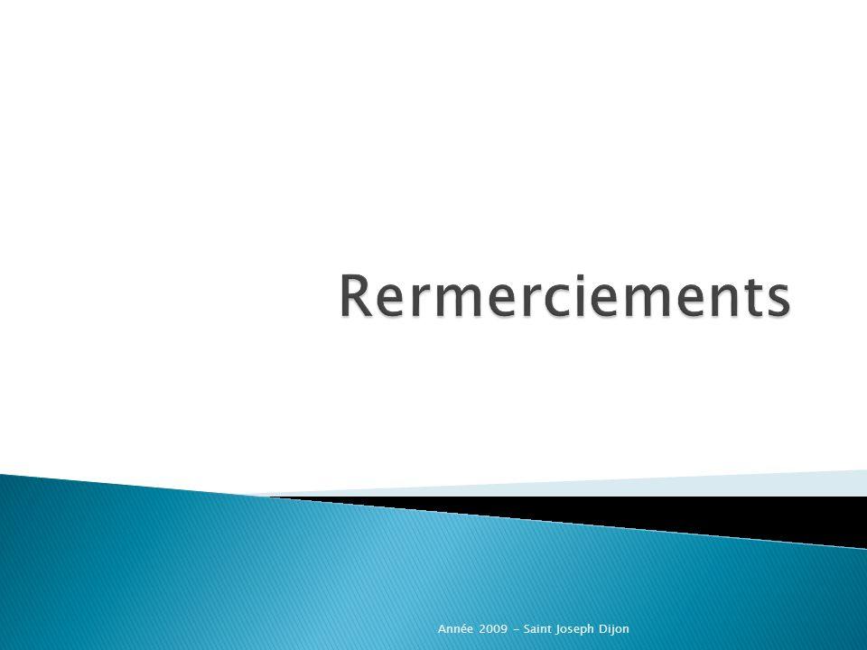 Rermerciements Année 2009 - Saint Joseph Dijon