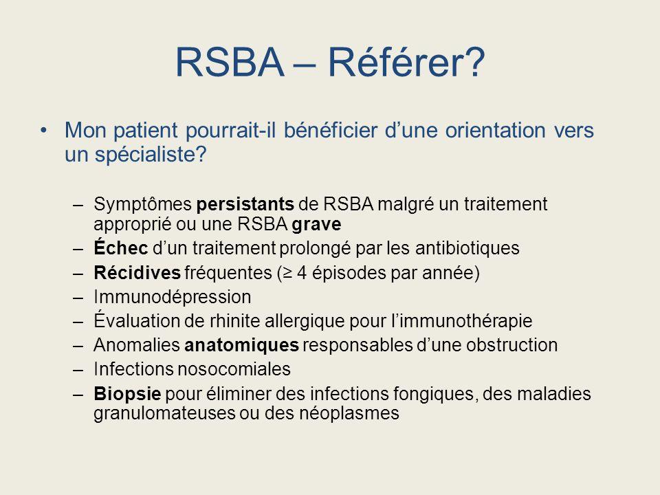 RSBA – Référer Mon patient pourrait-il bénéficier d'une orientation vers un spécialiste