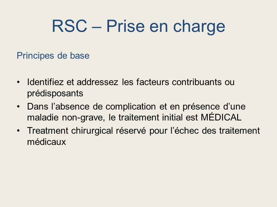 RSC – Prise en charge Principes de base