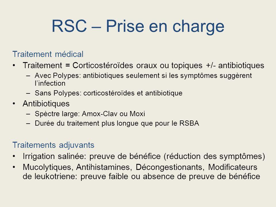 RSC – Prise en charge Traitement médical