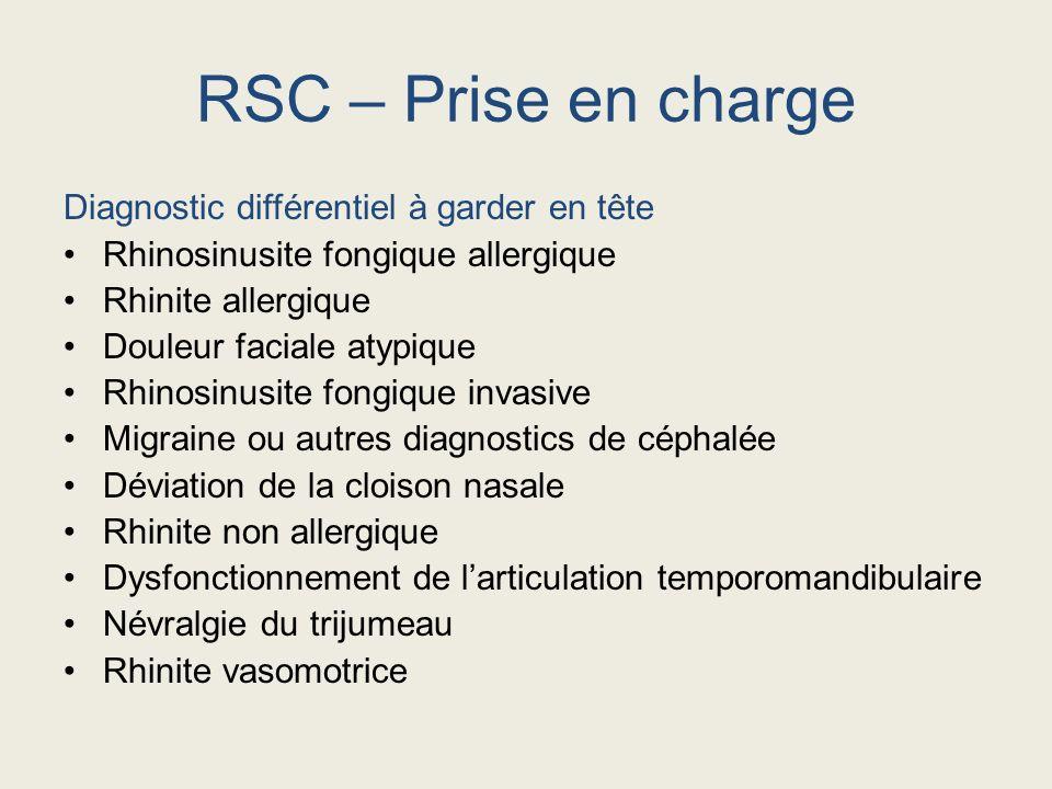 RSC – Prise en charge Diagnostic différentiel à garder en tête