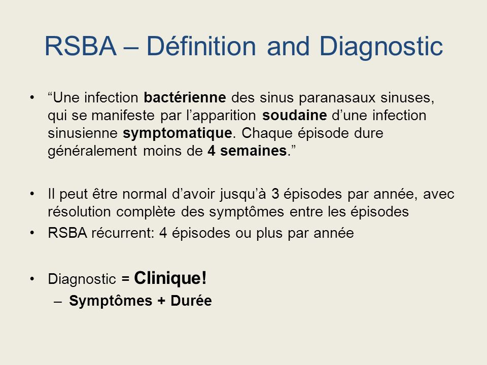 RSBA – Définition and Diagnostic