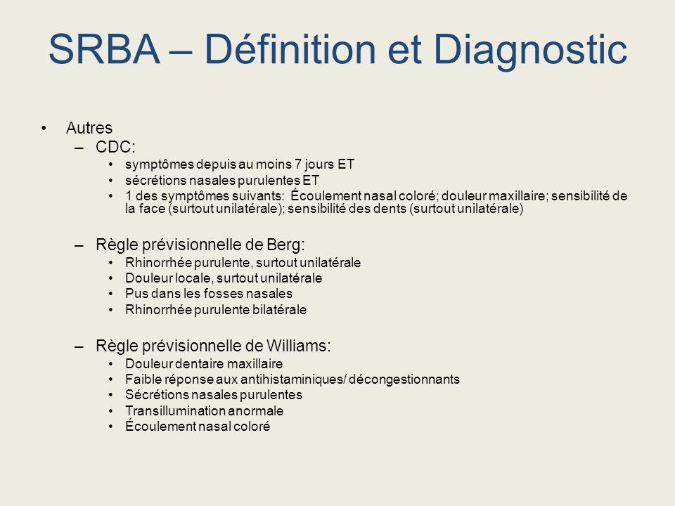 SRBA – Définition et Diagnostic