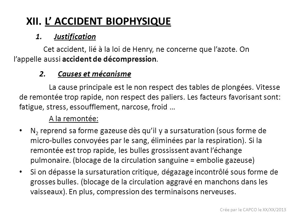 L' ACCIDENT BIOPHYSIQUE