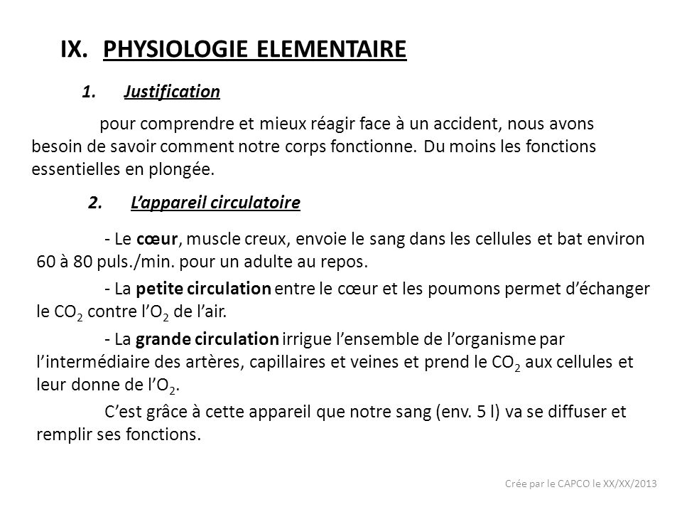 PHYSIOLOGIE ELEMENTAIRE