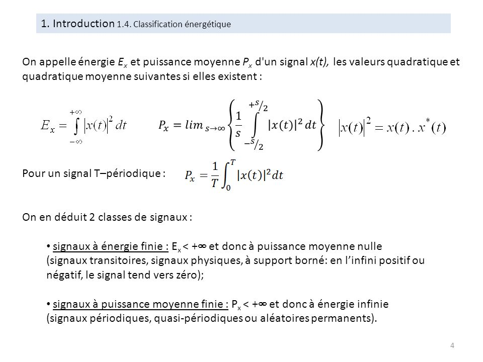 1. Introduction 1.4. Classification énergétique