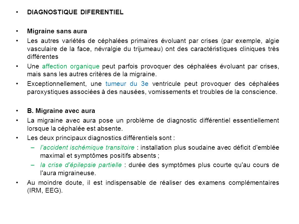 DIAGNOSTIQUE DIFERENTIEL