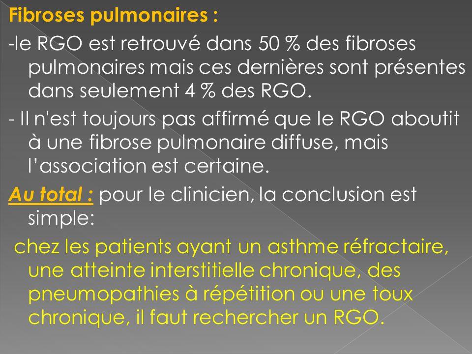 Fibroses pulmonaires :