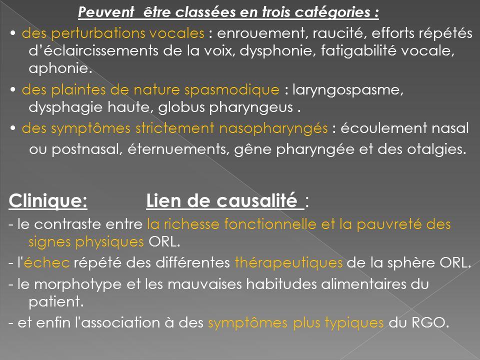 Clinique: Lien de causalité :