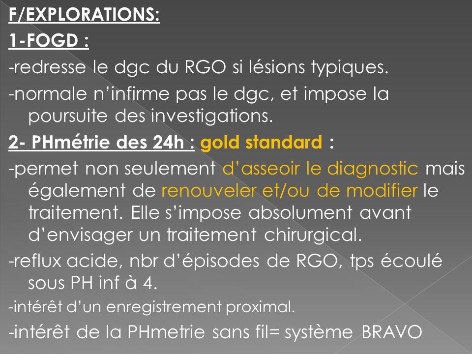 -redresse le dgc du RGO si lésions typiques.