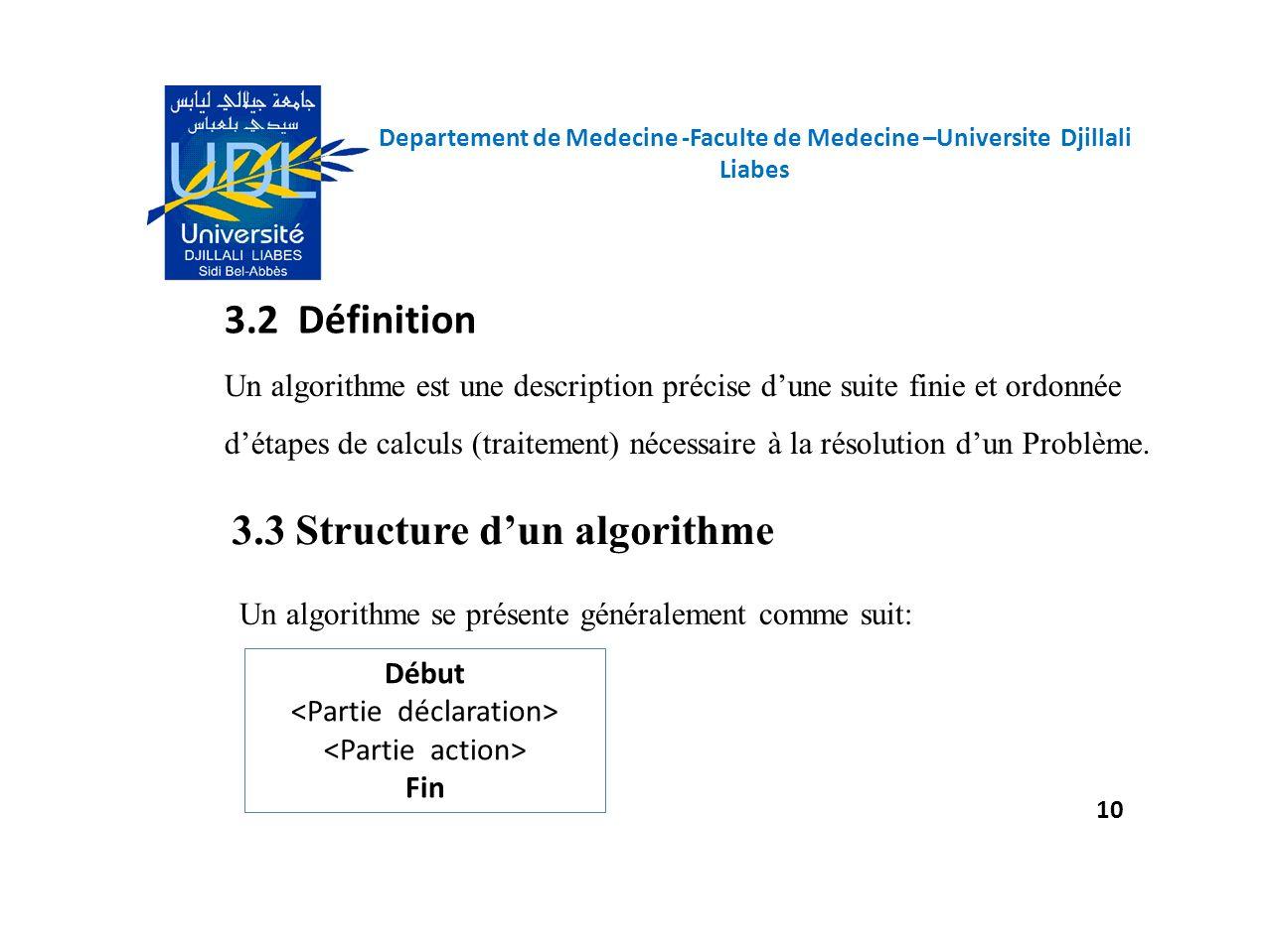 3.3 Structure d'un algorithme