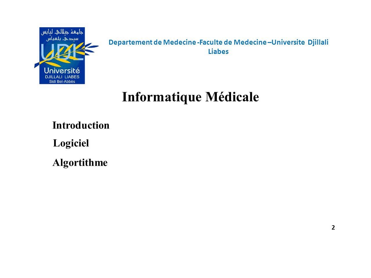 Informatique Médicale