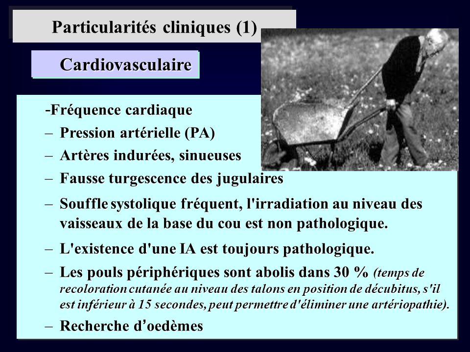 Particularités cliniques (1)