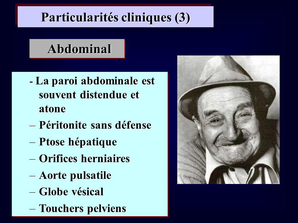 Particularités cliniques (3)