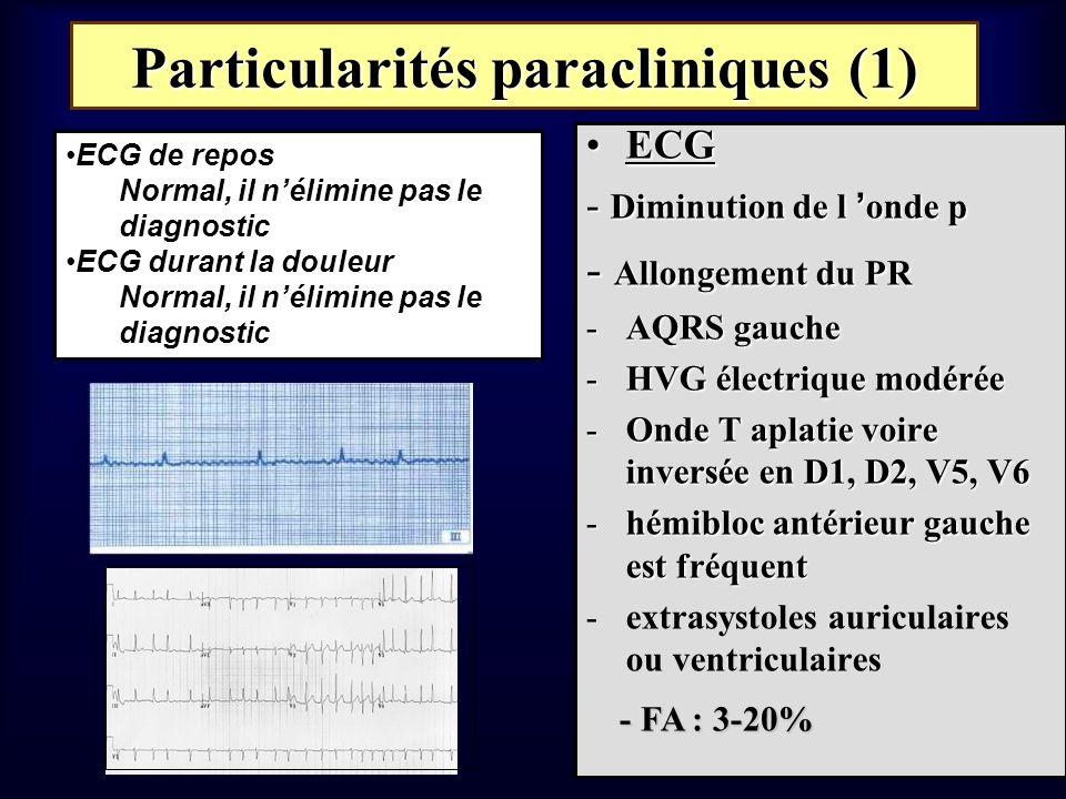 Particularités paracliniques (1)