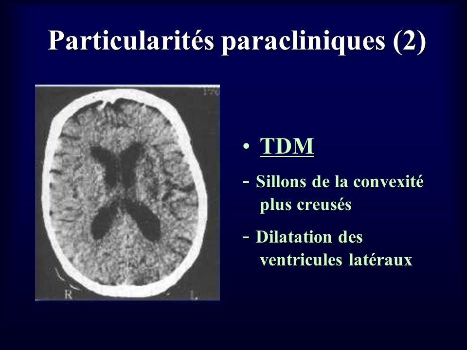 Particularités paracliniques (2)