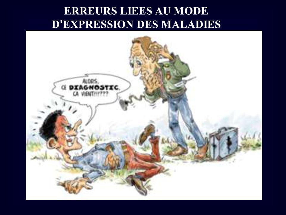 D'EXPRESSION DES MALADIES