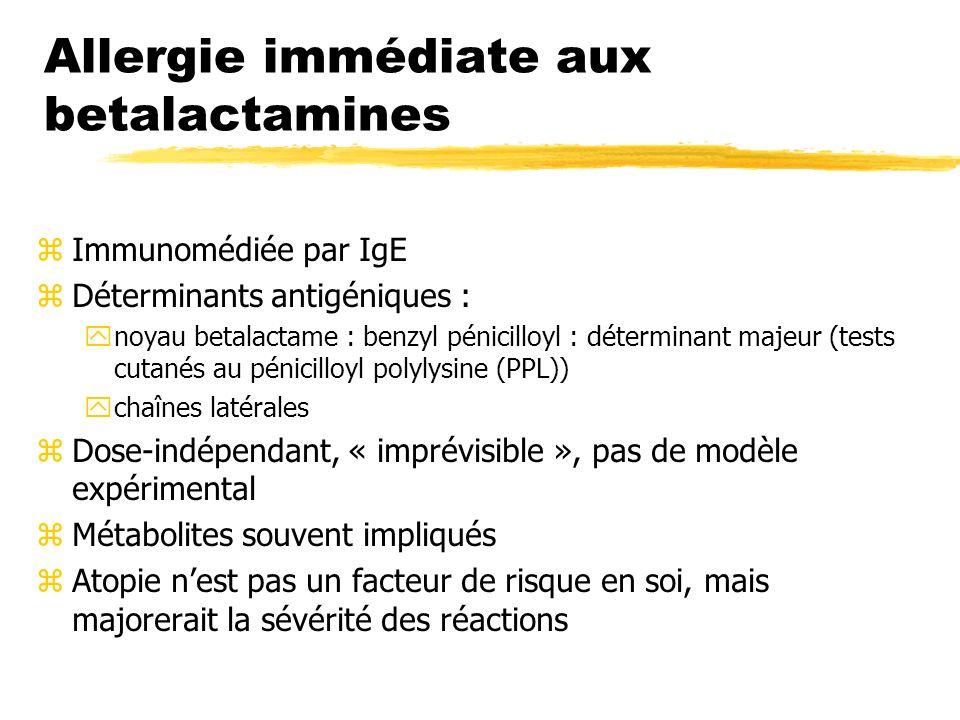 Allergie immédiate aux betalactamines
