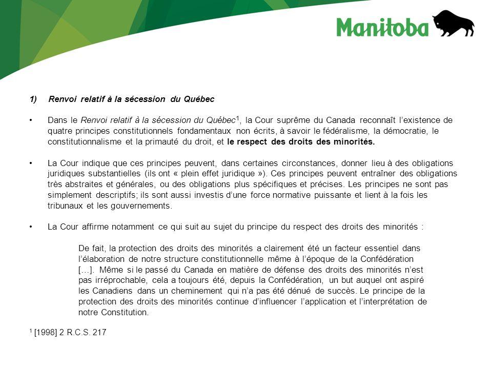 Renvoi relatif à la sécession du Québec