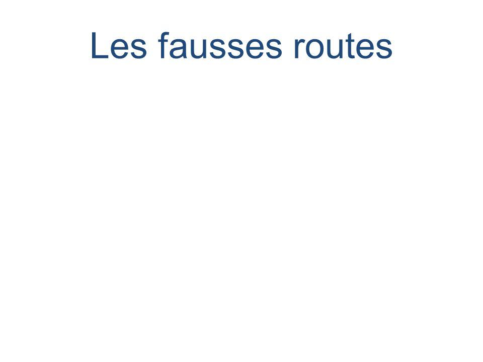 Les fausses routes