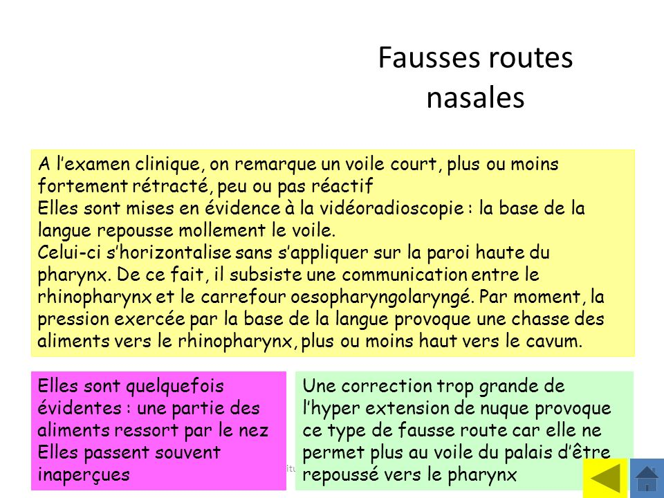 Fausses routes nasales